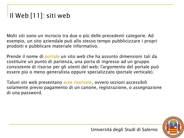 Il Web [11]: siti web